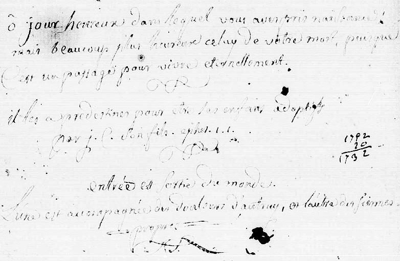 Registre BMS des Abeilles - 1784 à 1792 -Monieux